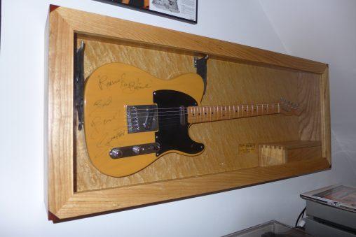 Displaykast voor Bruce Springsteen gitaar